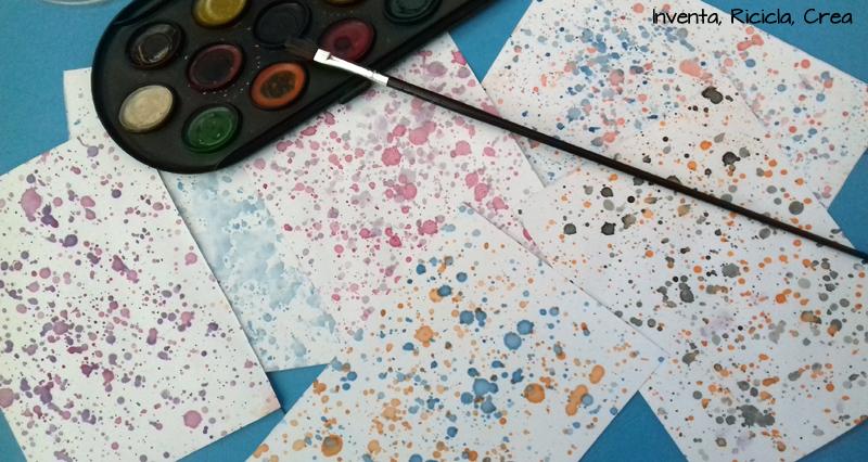 carta scrap fatta in casa acquerelli