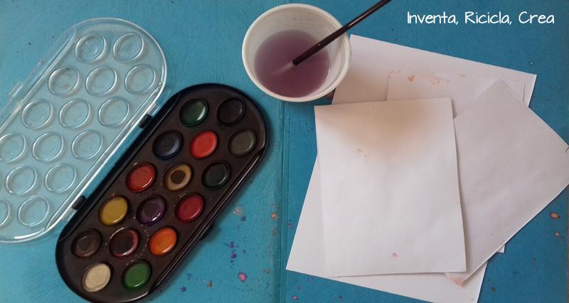 occorrente colorare carta acquerelli