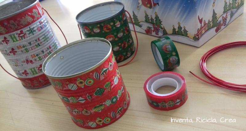 Confezioni Regalo Di Natale Di Riciclo Con I Barattoli Di