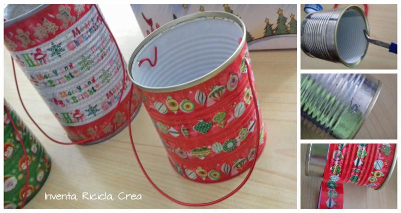 Famoso Confezioni regalo di Natale di riciclo con i barattoli di pomodoro  FD25