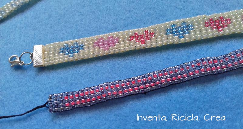 bracciali a fascia con il telaio di perline
