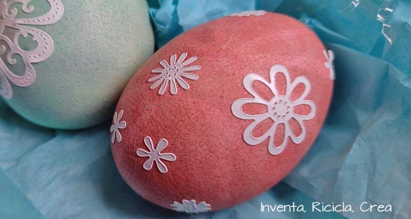 uova sode decorate fiori